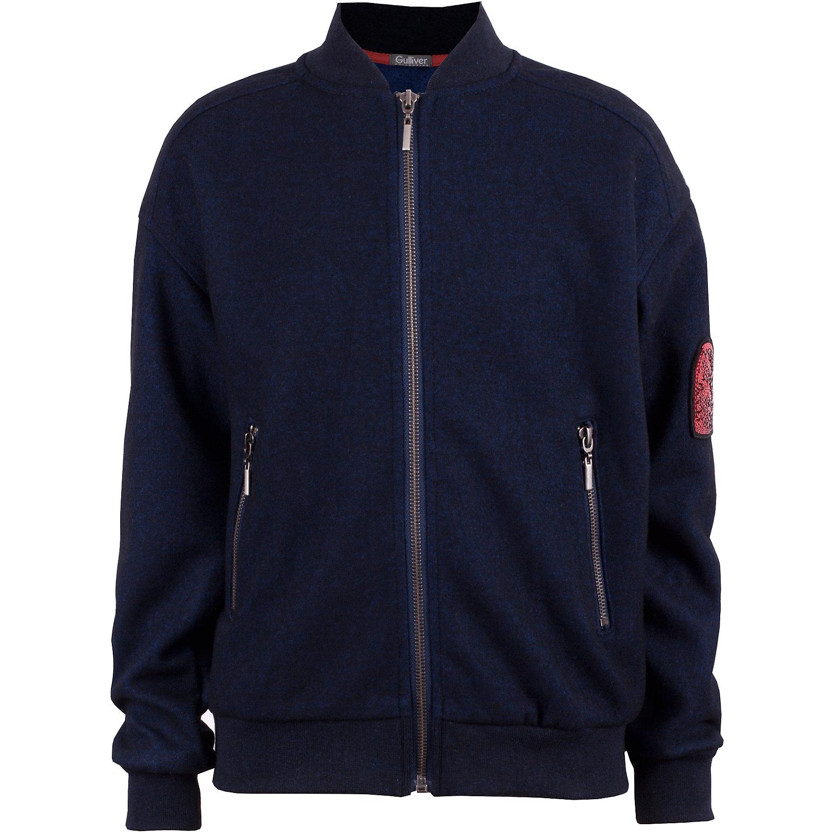 Ветровка Gulliver для девочкиВерхняя одежда<br>Ветровка Gulliver для девочки<br>Эта куртка-косуха - мечта каждой модницы! Сделанная из мягкой эко кожи и коротковорсового искусственного меха, куртка выглядит потрясающе! Модный синий цвет, актуальный силуэт, правильная длина, асимметричная застежка, крупная металлическая молния - в этой модели все совпало для создания дерзкого и динамичного образа. Если вам наскучили традиционные куртки из плащевки, и вы хотите приобрести модную интересную вещь, которая станет ярким и выразительным акцентом осенне-зимнего гардероба вашего ребенка, вам стоит купить куртку от Gulliver! Смелое дизайнерское решение сделает каждый look ребенка свежим, необычным и интересным.<br>Состав:<br>100% полиэстер<br><br>Ширина мм: 356<br>Глубина мм: 10<br>Высота мм: 245<br>Вес г: 519<br>Цвет: синий<br>Возраст от месяцев: 72<br>Возраст до месяцев: 84<br>Пол: Женский<br>Возраст: Детский<br>Размер: 122,140,134,128<br>SKU: 7076802