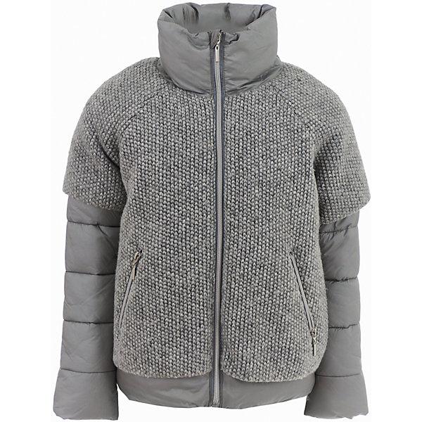 Куртка Gulliver для девочкиВерхняя одежда<br>Характеристики товара:<br><br>• цвет: серый;<br>• состав: 88% полиэстер 12% нейлон 58% шерсть 42% полиэстер; <br>• подкладка: 100% полиэстер;<br>• утеплитель: 100% полиэстер, искусственный пух;<br>• сезон: демисезон, зима;<br>• температурный режим: от 0 до -20С;<br>• особенности: разнофактурная;<br>• застежка: молния с защитой подбородка;<br>• высокая горловина;<br>• два кармана на молнии;<br>• коллекция: Игра теней;<br>• страна бренда: Россия;<br>• страна изготовитель: Китай.<br><br>Сочетание гладкой серебристой плащевки и фактурных вязаных деталей создает полное ощущение модного многослойного комплекта. Это изделие выглядит как два в одном и от этого кажется еще более привлекательным и красивым. Актуальный серо-серебристый цвет, правильные пропорции, удобные детали - дизайн и функциональность куртки продуманы до мелочей.<br><br>Куртку Gulliver для девочки (Гулливер) можно купить в нашем интернет-магазине.<br><br>Ширина мм: 356<br>Глубина мм: 10<br>Высота мм: 245<br>Вес г: 519<br>Цвет: серебряный<br>Возраст от месяцев: 96<br>Возраст до месяцев: 108<br>Пол: Женский<br>Возраст: Детский<br>Размер: 134,140,128,122<br>SKU: 7076896