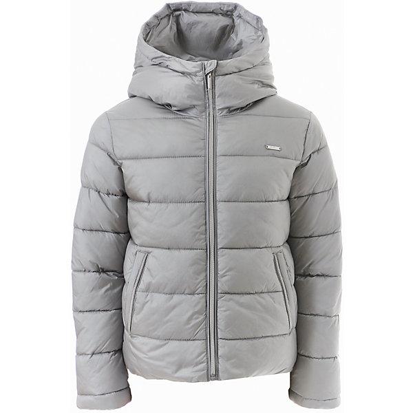 Куртка Gulliver для девочкиВерхняя одежда<br>Характеристики товара:<br><br>• цвет: серый;<br>• состав: 88% полиэстер 12% нейлон; <br>• подкладка: 100% полиэстер;<br>• утеплитель: 100% полиэстер, искусственный пух;<br>• сезон: демисезон, зима;<br>• температурный режим: от 0 до -20С;<br>• гладкая подкладка из полиэстера;<br>• застежка: молния с защитой подбородка;<br>• капюшон не отстегивается;<br>• высокая горловина;<br>• два кармана на молнии;<br>• коллекция: Игра теней;<br>• страна бренда: Россия;<br>• страна изготовитель: Китай.<br><br>Теплая куртка с капюшоном для девочки. Куртка застегивается на молнию. Лаконичный дизайн модели с лихвой компенсируется модным металлическим блеском серебристой плащевки. Модная форма, комфортная длина, удачная конструкция модели, не препятствующая свободе движений, а также все необходимые элементы для защиты от ветра сделают куртку незаменимым атрибутом осенне-зимнего сезона.<br><br>Куртку Gulliver для девочки (Гулливер) можно купить в нашем интернет-магазине.<br><br>Ширина мм: 356<br>Глубина мм: 10<br>Высота мм: 245<br>Вес г: 519<br>Цвет: серебряный<br>Возраст от месяцев: 108<br>Возраст до месяцев: 120<br>Пол: Женский<br>Возраст: Детский<br>Размер: 140,122,128,134<br>SKU: 7076901