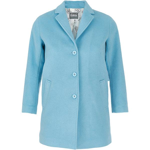 Пальто Gulliver для девочкиПальто и плащи<br>Характеристики товара:<br><br>• цвет: голубой;<br>• состав: 80% полиэстер 20% шерсть; <br>• подкладка: 100% полиэстер;<br>• без дополнительного утепления;<br>• сезон: демисезон;<br>• температурный режим: от +10 до -5С;<br>• гладкая подкладка из полиэстера;<br>• застежка: пуговицы;<br>• два кармана;<br>• коллекция: Игра теней;<br>• страна бренда: Россия;<br>• страна изготовитель: Китай.<br><br>Пальто - символ элегантности и комфорта. Ни одна самая красивая куртка, парка, бомбер, не сравнятся с пальто по утонченности, изысканности, шарму. Строгое, лаконичное, элегантное, пальто красиво завершит look, сделав образ стильным и интересным. Пальто застегивается на пуговицы.<br><br>Пальто Gulliver для девочки (Гулливер) можно купить в нашем интернет-магазине.<br>Ширина мм: 356; Глубина мм: 10; Высота мм: 245; Вес г: 519; Цвет: голубой; Возраст от месяцев: 72; Возраст до месяцев: 84; Пол: Женский; Возраст: Детский; Размер: 122,128,134,140; SKU: 7076906;