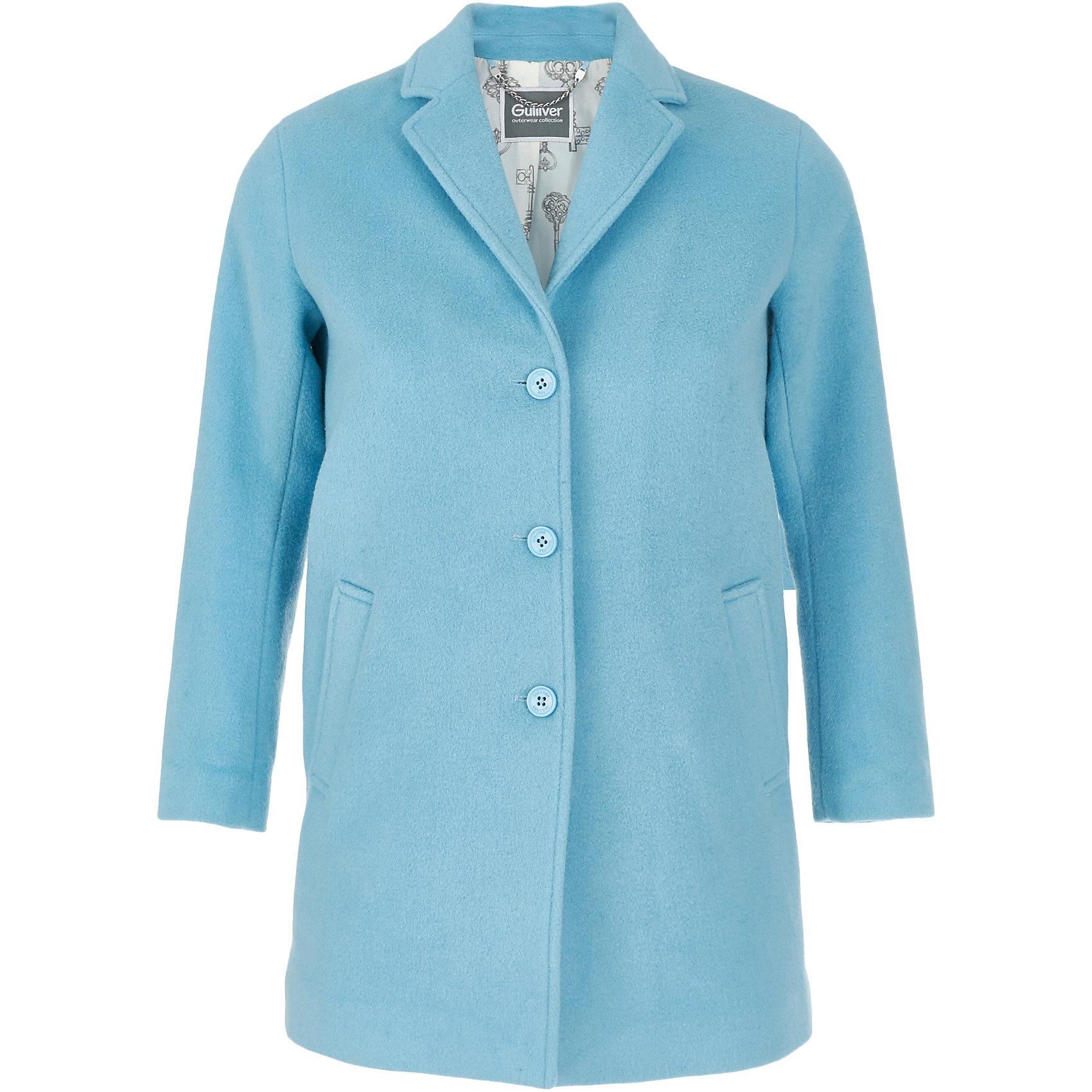 Пальто Gulliver для девочкиПальто и плащи<br>Пальто Gulliver для девочки<br>Модную или комфортную? Удобную или красивую? ... Если вы хотите купить куртку для девочки, помните, что хорошая куртка должна сочетать в себе все необходимые требования к функциональности и внешнему виду! Именно такая, детская куртка от Gulliver, - отличный вариант для холодной погоды. Лаконичный дизайн модели с лихвой компенсируется модным металлическим блеском серебристой плащевки. Модная форма, комфортная длина, удачная конструкция модели, не препятствующая свободе движений, а также все необходимые элементы для защиты от ветра сделают куртку незаменимым атрибутом осенне-зимнего сезона.<br>Состав:<br>верх: 88% полиэстер 12% нейлон; подкладка: 100% полиэстер; утеплитель: иск.пух 100% полиэстер<br><br>Ширина мм: 356<br>Глубина мм: 10<br>Высота мм: 245<br>Вес г: 519<br>Цвет: голубой<br>Возраст от месяцев: 108<br>Возраст до месяцев: 120<br>Пол: Женский<br>Возраст: Детский<br>Размер: 140,122,128,134<br>SKU: 7076906