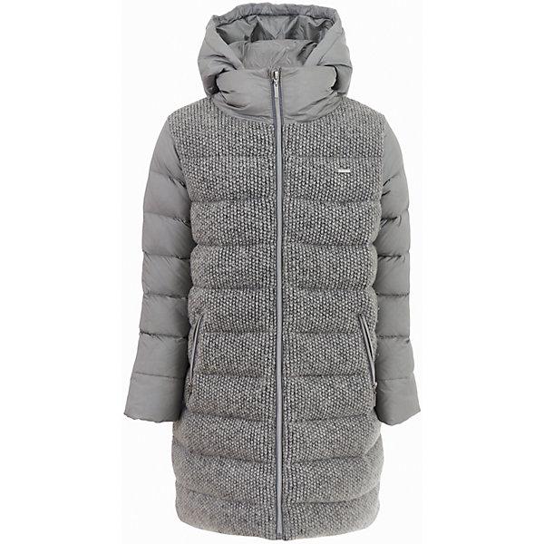 Пальто Gulliver для девочкиВерхняя одежда<br>Характеристики товара:<br><br>• цвет: серый;<br>• состав: 88% полиэстер 12% нейлон 58% шерсть 42% полиэстер; <br>• подкладка: 100% полиэстер;<br>• утеплитель: 80% пух, 20% перо;<br>• сезон: зима;<br>• температурный режим: от +5 до -20С;<br>• особенности: разнофактурная;<br>• застежка: молния с защитой подбородка;<br>• гладкая подкладка из полиэстера;<br>• высокая горловина;<br>• капюшон не отстегивается;<br>• два кармана на молнии;<br>• коллекция: Игра теней;<br>• страна бренда: Россия;<br>• страна изготовитель: Китай.<br><br>Зимнее пальто для девочки. Сочетание гладкой серебристой плащевки и фактурных вязаных деталей создает красивую игру фактур. Актуальный серо-серебристый цвет, модный свободный силуэт, правильные пропорции, удобные детали  - дизайн и функциональность пальто продуманы до мелочей. <br><br>Пальто Gulliver для девочки (Гулливер) можно купить в нашем интернет-магазине.<br><br>Ширина мм: 356<br>Глубина мм: 10<br>Высота мм: 245<br>Вес г: 519<br>Цвет: серебряный<br>Возраст от месяцев: 72<br>Возраст до месяцев: 84<br>Пол: Женский<br>Возраст: Детский<br>Размер: 122,140,134,128<br>SKU: 7076911
