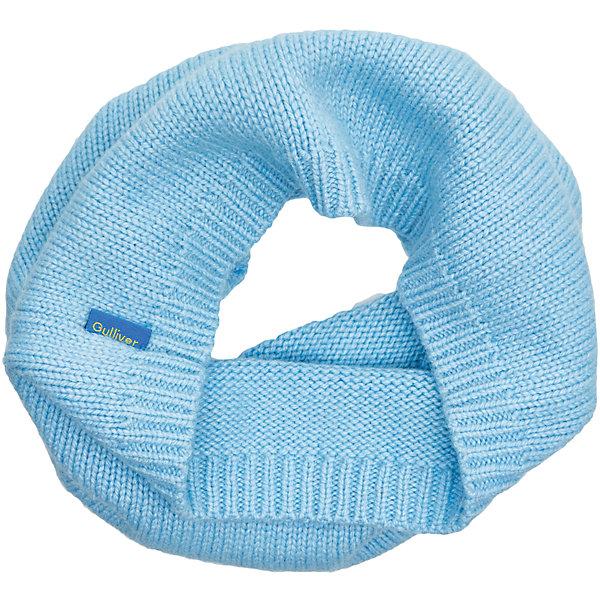 Шарф-хомут Gulliver для девочкиШарфы, платки<br>Характеристики товара:<br><br>• цвет: голубой;<br>• состав: 40% вискоза 20% шерсть 20% нейлон 20% ангора; <br>• сезон: демисезон, зима;<br>• температурный режим: от +10 до -20С;<br>• особенности: вязаный;<br>• мягкая пряжа;<br>• коллекция: Игра теней;<br>• страна бренда: Россия;<br>• страна изготовитель: Китай.<br><br>Серый вязаный воротник из меланжевой пряжи подарит необыкновенный комфорт, тепло и уют. Легкость, удобство, а также возможность красиво завершить зимний образ, придав ему элегантную небрежность, делают шарф незаменимым аксессуаром.<br><br>Шарф-хомут Gulliver для девочки (Гулливер) можно купить в нашем интернет-магазине.<br><br>Ширина мм: 170<br>Глубина мм: 157<br>Высота мм: 67<br>Вес г: 117<br>Цвет: голубой<br>Возраст от месяцев: 0<br>Возраст до месяцев: 168<br>Пол: Женский<br>Возраст: Детский<br>Размер: one size<br>SKU: 7076944