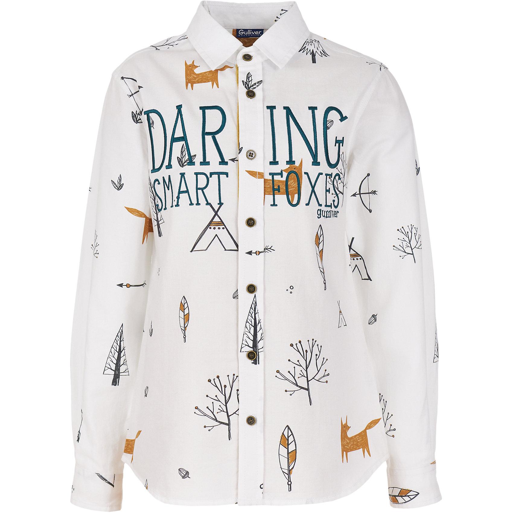 Сорочка Gulliver для мальчикаБлузки и рубашки<br>Сорочка Gulliver для мальчика<br>Детские футболки - основа повседневного гардероба! Удобные и практичные, трикотажные футболки способны добавить образу изюминку, а также подарить комфорт и свободу движений. Если вы хотите приобрести интересную и нужную вещь на каждый день, вам стоит купить футболку с длинным рукавом. Модель с V-образной горловиной выполнена из мягкого однотонного трикотажа. Отделочные детали в полоску придают модели особый шарм и оригинальность. Эта футболка для мальчика не будет пылиться в шкафу, а станет самой любимой и востребованной вещью в осенне-зимнем гардеробе ребенка.<br>Состав:<br>100% хлопок<br><br>Ширина мм: 174<br>Глубина мм: 10<br>Высота мм: 169<br>Вес г: 157<br>Цвет: белый<br>Возраст от месяцев: 108<br>Возраст до месяцев: 120<br>Пол: Мужской<br>Возраст: Детский<br>Размер: 140,122,128,134<br>SKU: 7076964