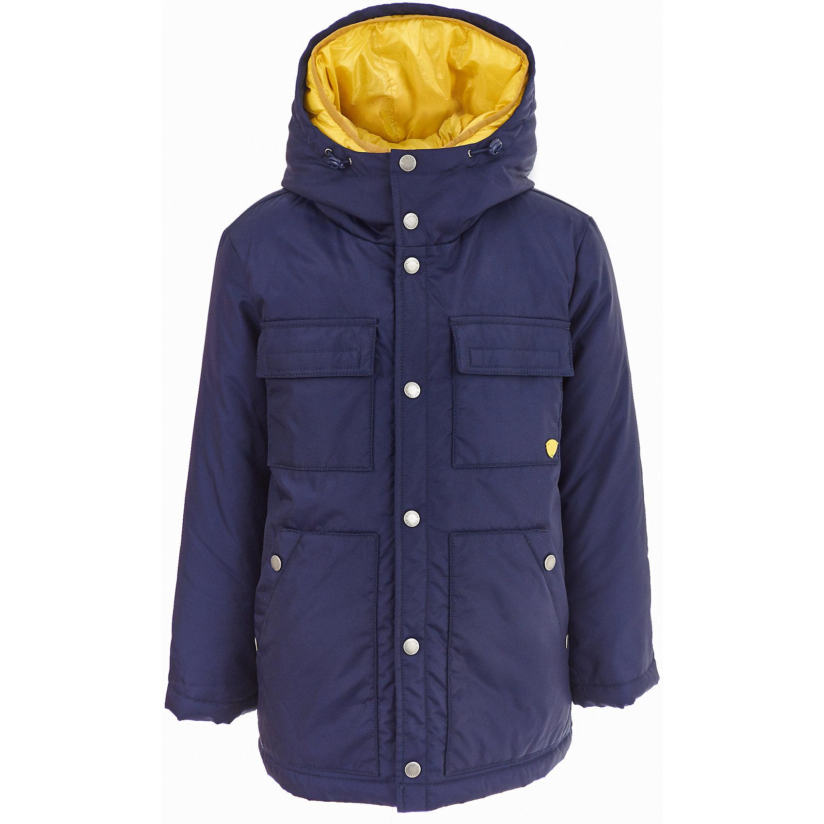 Полупальто Gulliver для мальчикаДемисезонные куртки<br>Полупальто Gulliver для мальчика<br>Модную или комфортную? Красивую или практичную?... Если вы хотите купить куртку для мальчика, помните, что хорошая куртка должна сочетать в себе все необходимые требования к внешнему виду и функциональности! Именно такая, детская куртка от Gulliver, - отличный вариант для холодной погоды. Стильный дизайн: контрастная отделка, крупный принт, модная фишка - ветрозащитные очки на капюшоне, не позволят пройти мимо, не обратив на себя внимания! Удобная форма, комфортная длина, удачная конструкция модели, не препятствующая свободе движений, а также все необходимые элементы для защиты от ветра сделают куртку незаменимым атрибутом зимнего сезона.<br>Состав:<br>верх: 100% полиэстер;  подкладка: 100% полиэстер; утеплитель: иск.пух 100% полиэстер<br><br>Ширина мм: 356<br>Глубина мм: 10<br>Высота мм: 245<br>Вес г: 519<br>Цвет: синий<br>Возраст от месяцев: 108<br>Возраст до месяцев: 120<br>Пол: Мужской<br>Возраст: Детский<br>Размер: 140,122,128,134<br>SKU: 7077083