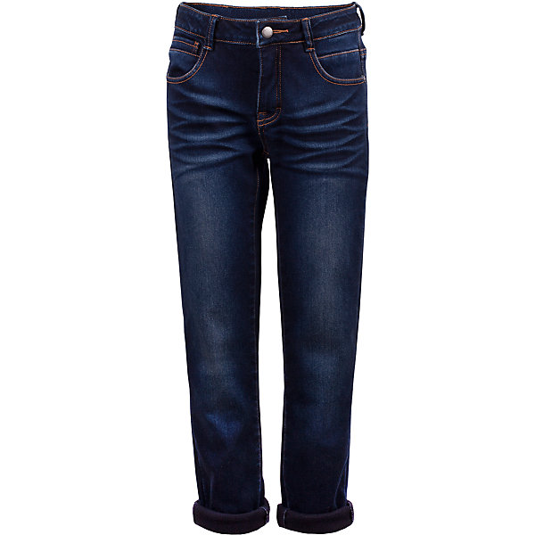Джинсы на флисе Gulliver для мальчикаДжинсовая одежда<br>Характеристики товара:<br><br>• цвет: синий;<br>• состав: 98% хлопок 2% эластан;<br>• подкладка: 100% полиэстер, флис;<br>• сезон: демисезон;<br>• температурный режим: от +10 до – 10С;<br>• особенности: на флисе, с потертостями;<br>• застежка: ширинка на молнии и пуговица;<br>• с отворотами внизу;<br>• коллекция: Арбитр;<br>• страна бренда: Россия;<br>• страна изготовитель: Китай.<br><br>Утепленные джинсы - это возможность быть стильным и современным в любую погоду! Тонкий флис на внутренней части модели не создает ненужного объема, сохраняя актуальную зауженную форму модели, но делает синие джинсы теплыми и уютными. Зимние джинсы с модными потертостями и варкой.<br><br>Джинсы Gulliver (Гулливер) можно купить в нашем интернет-магазине.<br><br>Ширина мм: 215<br>Глубина мм: 88<br>Высота мм: 191<br>Вес г: 336<br>Цвет: синий<br>Возраст от месяцев: 72<br>Возраст до месяцев: 84<br>Пол: Мужской<br>Возраст: Детский<br>Размер: 122,140,134,128<br>SKU: 7077088