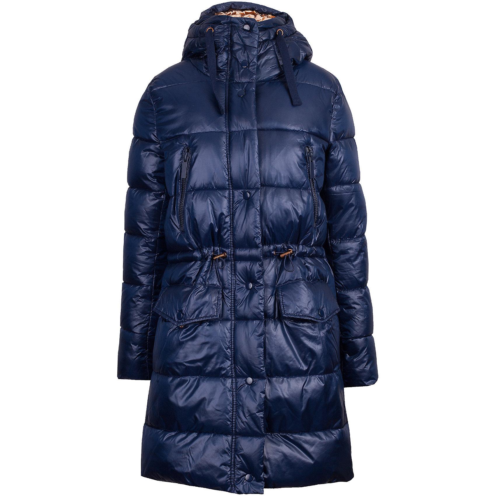 Пальто Gulliver для девочкиВерхняя одежда<br>Пальто Gulliver для девочки<br>Эта куртка-косуха - мечта каждой модницы! Сделанная из искусственной дубленой кожи, куртка выглядит потрясающе! Синий цвет, асимметричная застежка, белый меховой воротник, крупная металлическая молния, - в этой модели все совпало для создания дерзкого, элегантного и динамичного образа. Стильные куртки осеннего сезона - это смелые и интересные решения, созданные уверенной дизайнерской рукой. Они сделают образ девочки привлекательным, а также подарят тепло, уют и отличное настроение.<br>Состав:<br>100% полиэстер<br><br>Ширина мм: 356<br>Глубина мм: 10<br>Высота мм: 245<br>Вес г: 519<br>Цвет: синий<br>Возраст от месяцев: 156<br>Возраст до месяцев: 168<br>Пол: Женский<br>Возраст: Детский<br>Размер: 164,146,152,158<br>SKU: 7077171