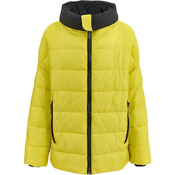 Куртка Gulliver для девочкиДемисезонные куртки<br>Характеристики товара:<br><br>• цвет: желтый;<br>• состав: 100% полиэстер;<br>• подкладка: 100% полиэстер;<br>• утеплитель: 100% полиэстер, искусственный пух;<br>• сезон: зима;<br>• температурный режим: от 0 до -20С;<br>• особенности: стеганая, пуховая;<br>• застежка: молния;<br>• гладкая подкладка из полиэстера;<br>• высокий воротник-отворот;<br>• внутренние трикотажные манжеты;<br>• два боковых кармана на молнии;<br>• коллекция: Каменные джунгли;<br>• страна бренда: Россия;<br>• страна изготовитель: Китай.<br><br>Зимняя куртка на молнии для девочки. Куртка без капюшона. Стильный дизайн: яркий цвет, актуальный объем, спущенное плечо, продуманные функциональные детали не позволят пройти мимо, не обратив на себя внимания!<br><br>Куртку Gulliver (Гулливер) можно купить в нашем интернет-магазине.<br>Ширина мм: 356; Глубина мм: 10; Высота мм: 245; Вес г: 519; Цвет: желтый; Возраст от месяцев: 120; Возраст до месяцев: 132; Пол: Женский; Возраст: Детский; Размер: 146,164,158,152; SKU: 7077231;