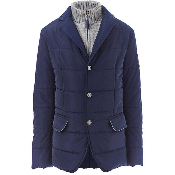 Куртка Gulliver для мальчикаДемисезонные куртки<br>Характеристики товара:<br><br>• цвет: синий;<br>• состав: 100% полиэстер;<br>• подкладка: 100% полиэстер;<br>• утеплитель: 100% полиэстер;<br>• сезон: демисезон;<br>• температурный режим: от +10 до -10С;<br>• особенности: стеганая;<br>• застежка: молния, кнопки;<br>• имитация многослойности;<br>• высокий трикотажный воротник;<br>• накладки на локтях;<br>• два кармана;<br>• коллекция: Морской волк;<br>• страна бренда: Россия;<br>• страна изготовитель: Китай.<br><br>Модная стеганая куртка-пиджак - именно то, что нужно подростку! Она выглядит интересно, солидно, достойно, придавая осеннему образу мальчика особую элегантность. При этом, куртка удобна, не стесняет движений и позволяет мальчику быть самим собой, т.к. очень практична и комфортна. Изюминка модели в дополнительной детали, защищающей от ветра и имитирующей модную многослойность.<br><br>Куртку Gulliver (Гулливер) можно купить в нашем интернет-магазине.<br>Ширина мм: 356; Глубина мм: 10; Высота мм: 245; Вес г: 519; Цвет: синий; Возраст от месяцев: 120; Возраст до месяцев: 132; Пол: Мужской; Возраст: Детский; Размер: 146,164,158,152; SKU: 7077304;