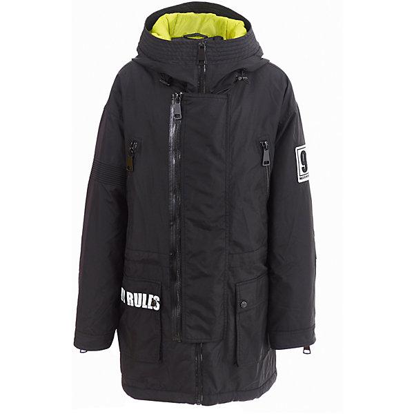 Полупальто Gulliver для мальчикаВерхняя одежда<br>Характеристики товара:<br><br>• цвет: черный;<br>• состав: 100% нейлон;<br>• подкладка: 100% полиэстер;<br>• утеплитель: 100% полиэстер;<br>• сезон: зима;<br>• температурный режим: от 0 до -20С;<br>• особенности: с надписями;<br>• застежка: молния с дополнительной планкой на молнии;<br>• гладкая подкладка из полиэстера;<br>• капюшон не отстегивается;<br>• молния на рукавах;<br>• шнурок-утяжка со стопером на капюшоне;<br>• два нагрудных кармана на молнии;<br>• два накладных кармана спереди;<br>• имитация карманов сзади;<br>• коллекция: Хай-Тек;<br>• страна бренда: Россия;<br>• страна изготовитель: Китай.<br><br>Зимнее пальто для мальчика. Черное, стильное, эффектное, оно смотрится необычно и даже экстравагантно, благодаря модной свободной форме и интересным деталям. Крупные функциональные карманы, кожаные клапаны на спинке, молнии, принты... Это полупальто выглядит потрясающе!  <br><br>Пальто Gulliver (Гулливер) можно купить в нашем интернет-магазине.<br><br>Ширина мм: 356<br>Глубина мм: 10<br>Высота мм: 245<br>Вес г: 519<br>Цвет: черный<br>Возраст от месяцев: 120<br>Возраст до месяцев: 132<br>Пол: Мужской<br>Возраст: Детский<br>Размер: 146,164,158,152<br>SKU: 7077355