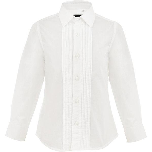 Рубашка Gulliver для мальчикаБлузки и рубашки<br>Характеристики товара:<br><br>• цвет: белый;<br>• состав: 100% хлопок;<br>• сезон: круглый год;<br>• особенности: нарядная;<br>• застежка: пуговицы;<br>• манжеты рукавов на пуговице;<br>• с длинным рукавом;<br>• коллекция: Карнавальная ночь;<br>• страна бренда: Россия;<br>• страна изготовитель: Китай.<br><br>Белая рубашка с длинным рукавом для мальчика. Нарядная рубашка застегивается на пуговицы, манжеты рукавов на одной пуговице. Классическая сорочка с элегантными защипами – важный атрибут элегантного гардероба. Современный крой обеспечивает прекрасную посадку изделия на фигуре. 100% хлопок в составе ткани создает исключительные гигиенические характеристики, что сделает длительное пребывание в сорочке очень комфортным.<br><br>Рубашку Gulliver (Гулливер) можно купить в нашем интернет-магазине.<br>Ширина мм: 174; Глубина мм: 10; Высота мм: 169; Вес г: 157; Цвет: белый; Возраст от месяцев: 60; Возраст до месяцев: 72; Пол: Мужской; Возраст: Детский; Размер: 116,98,104,110; SKU: 7077380;
