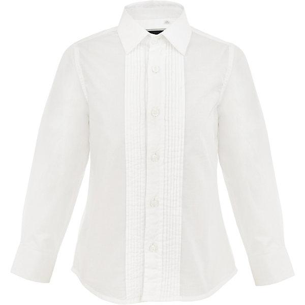 Рубашка Gulliver для мальчикаБлузки и рубашки<br>Характеристики товара:<br><br>• цвет: белый;<br>• состав: 100% хлопок;<br>• сезон: круглый год;<br>• особенности: нарядная;<br>• застежка: пуговицы;<br>• манжеты рукавов на пуговице;<br>• с длинным рукавом;<br>• коллекция: Карнавальная ночь;<br>• страна бренда: Россия;<br>• страна изготовитель: Китай.<br><br>Белая рубашка с длинным рукавом для мальчика. Нарядная рубашка застегивается на пуговицы, манжеты рукавов на одной пуговице. Классическая сорочка с элегантными защипами – важный атрибут элегантного гардероба. Современный крой обеспечивает прекрасную посадку изделия на фигуре. 100% хлопок в составе ткани создает исключительные гигиенические характеристики, что сделает длительное пребывание в сорочке очень комфортным.<br><br>Рубашку Gulliver (Гулливер) можно купить в нашем интернет-магазине.<br>Ширина мм: 174; Глубина мм: 10; Высота мм: 169; Вес г: 157; Цвет: белый; Возраст от месяцев: 120; Возраст до месяцев: 132; Пол: Мужской; Возраст: Детский; Размер: 146,164,158,152; SKU: 7077395;