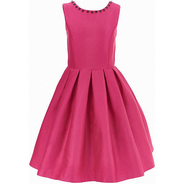 Платье Gulliver для девочкиОдежда<br>Характеристики товара:<br><br>• цвет: розовый;<br>• состав: 55% полиэстер, 45% хлопок; <br>• подкладка: 100% хлопок;<br>• сезон: круглый год;<br>• особенности: нарядное, в складку, со стразами;<br>• застежка: молния на спине;<br>• платье без рукавов;<br>• округлый горловой вырез;<br>• треугольный вырез на спине;<br>• юбка платья в небольшую складку;<br>• вырез по канту декорирован стразами;<br>• коллекция: Карнавальная ночь;<br>• страна бренда: Россия;<br>• страна изготовитель: Китай.<br><br>Нарядное платье без рукавов для девочки. Платье застегивается на молнию. Роскошное атласное платье цвета фуксия - образец благородства и изящества. Приталенный лиф, широкая пышная юбка и оформление горловины крупными бусинами создают головокружительный эффект модели для настоящей принцессы.<br><br>Платье Gulliver для девочки (Гулливер) можно купить в нашем интернет-магазине.<br>Ширина мм: 236; Глубина мм: 16; Высота мм: 184; Вес г: 177; Цвет: розовый; Возраст от месяцев: 24; Возраст до месяцев: 36; Пол: Женский; Возраст: Детский; Размер: 98,116,110,104; SKU: 7077442;