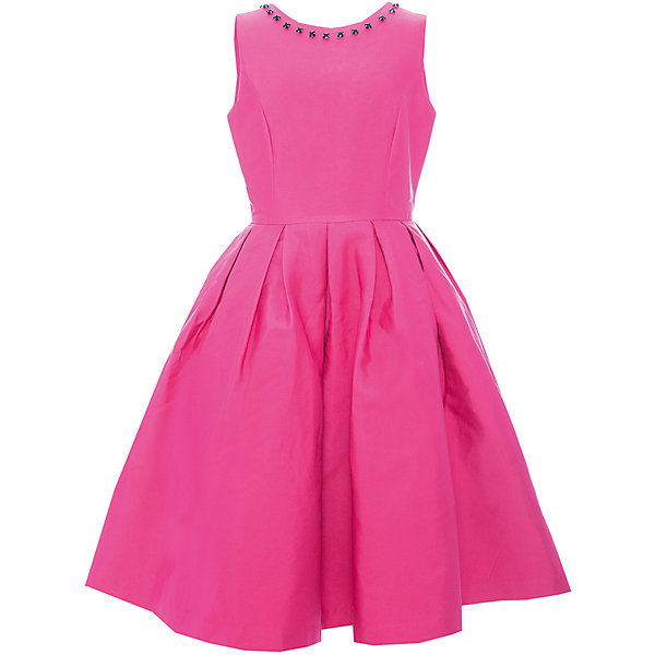 Платье Gulliver для девочкиПлатья и сарафаны<br>Характеристики товара:<br><br>• цвет: розовый;<br>• состав: 55% полиэстер, 45% хлопок; <br>• подкладка: 100% хлопок;<br>• сезон: круглый год;<br>• особенности: нарядное, в складку, со стразами;<br>• застежка: молния на спине;<br>• платье без рукавов;<br>• округлый горловой вырез;<br>• треугольный вырез на спине;<br>• юбка платья в небольшую складку;<br>• вырез по канту декорирован стразами;<br>• коллекция: Карнавальная ночь;<br>• страна бренда: Россия;<br>• страна изготовитель: Китай.<br><br>Нарядное платье без рукавов для девочки. Платье застегивается на молнию. Роскошное атласное платье цвета фуксия - образец благородства и изящества. Приталенный лиф, широкая пышная юбка и оформление горловины крупными бусинами создают головокружительный эффект модели для настоящей принцессы.<br><br>Платье Gulliver для девочки (Гулливер) можно купить в нашем интернет-магазине.<br>Ширина мм: 236; Глубина мм: 16; Высота мм: 184; Вес г: 177; Цвет: розовый; Возраст от месяцев: 120; Возраст до месяцев: 132; Пол: Женский; Возраст: Детский; Размер: 146,164,158,152; SKU: 7077467;