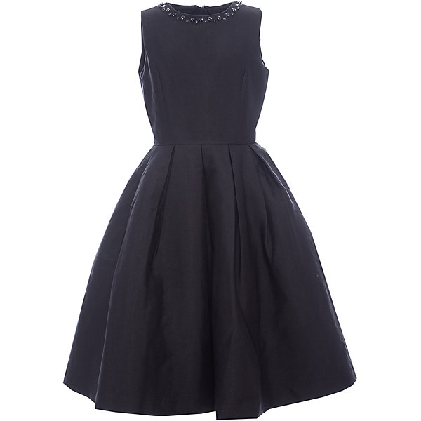 Платье Gulliver для девочкиПлатья и сарафаны<br>Характеристики товара:<br><br>• цвет: черный;<br>• состав: 55% полиэстер, 45% хлопок; <br>• подкладка: 100% хлопок;<br>• сезон: круглый год;<br>• особенности: нарядное, в складку, со стразами;<br>• застежка: молния на спине;<br>• платье без рукавов;<br>• округлый горловой вырез;<br>• юбка платья в небольшую складку;<br>• вырез по канту декорирован стразами;<br>• коллекция: Карнавальная ночь;<br>• страна бренда: Россия;<br>• страна изготовитель: Китай.<br><br>Нарядное платье без рукавов для девочки. Платье застегивается на молнию. Роскошное атласное черное платье - образец благородства и изящества. Приталенный лиф, широкая пышная юбка и оформление горловины крупными бусинами создают головокружительный эффект модели для настоящей принцессы.<br><br>Платье Gulliver для девочки (Гулливер) можно купить в нашем интернет-магазине.<br>Ширина мм: 236; Глубина мм: 16; Высота мм: 184; Вес г: 177; Цвет: черный; Возраст от месяцев: 144; Возраст до месяцев: 156; Пол: Женский; Возраст: Детский; Размер: 158,146,164,152; SKU: 7077472;