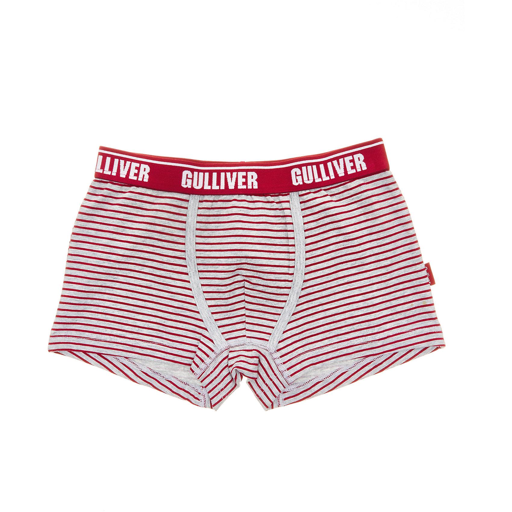 Трусы Gulliver для мальчикаНижнее бельё<br>Трусы Gulliver для мальчика<br>Белье для мальчиков должно быть красивым и удобным! - выбирая трусы для юного модника, каждая мама хочет купить детское белье, соответствующее самым высоким стандартам качества и комфорта. Детские трусы от Gulliver - идеальное решение для каждого дня. Интересный дизайн, мягкость, эстетичность, приятное прилегание к телу - залог хорошего самочувствия и отличного настроения ребенка.<br>Состав:<br>95% хлопок        5% эластан<br><br>Ширина мм: 196<br>Глубина мм: 10<br>Высота мм: 154<br>Вес г: 152<br>Цвет: белый<br>Возраст от месяцев: 144<br>Возраст до месяцев: 156<br>Пол: Мужской<br>Возраст: Детский<br>Размер: 158,98,110,122,134,146<br>SKU: 7078085