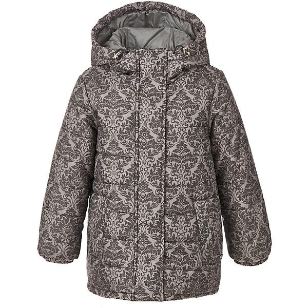 Куртка Gulliver для девочкиВерхняя одежда<br>Характеристики товара:<br><br>• цвет: серый;<br>• состав: 100% полиэстер;<br>• подкладка: 100% хлопок;<br>• утеплитель: 100% полиэстер;<br>• сезон: зима;<br>• температурный режим: от 0 до -20С;<br>• особенности: с узором;<br>• застежка: молния с защитой подбородка;<br>• дополнительная планка на кнопках;<br>• капюшон не отстегивается;<br>• шнурок-утяжка со стопером на капюшоне;<br>• внутренняя утяжка по низу изделия;<br>• два прорезных кармана;<br>• коллекция: Филигрань;<br>• страна бренда: Россия;<br>• страна изготовитель: Китай.<br><br>Зимняя куртка на молнии для девочки. Модный благородный дамасский узор, выполненный на плащевке, комфортная объемная форма, уютный капюшон, необходимые утяжки для защиты от продувания свидетельствуют о прекрасном внешнем виде, высоком качестве и продуманности деталей. Детская куртка из коллекции Филигрань выполнена в полном соответствии тенденциям моды! <br><br>Куртку Gulliver (Гулливер) можно купить в нашем интернет-магазине.<br><br>Ширина мм: 356<br>Глубина мм: 10<br>Высота мм: 245<br>Вес г: 519<br>Цвет: серый<br>Возраст от месяцев: 24<br>Возраст до месяцев: 36<br>Пол: Женский<br>Возраст: Детский<br>Размер: 98,104,116,110<br>SKU: 7078523