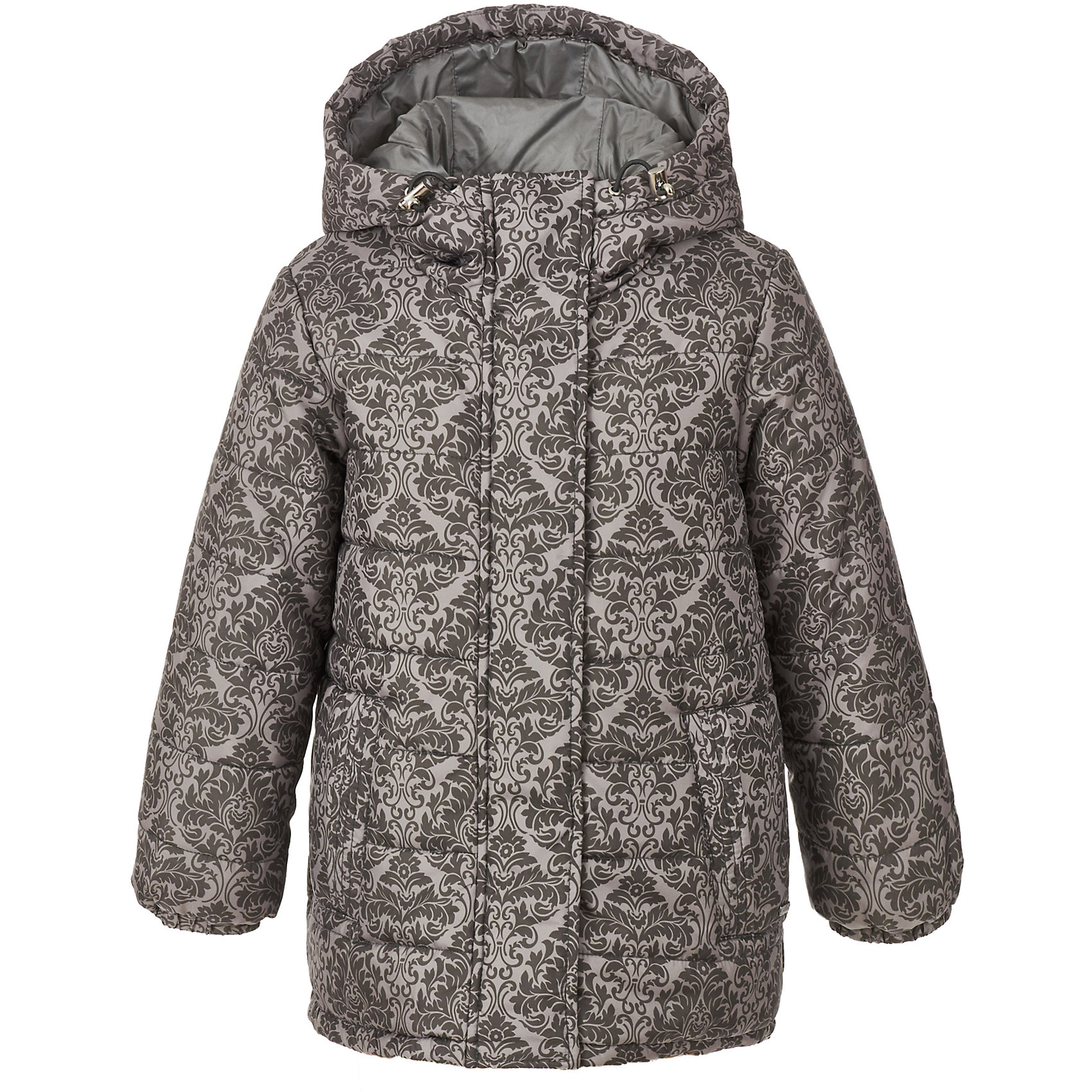 Куртка Gulliver для девочкиДемисезонные куртки<br>Куртка Gulliver для девочки<br>Купить куртку! - именно такую задачу ставят перед собой мамы девочек, отправляясь на шопинг. И действительно, в преддверии осенней промозглости, уютная куртка становится главным атрибутом гардероба ребенка. Эта куртка - образец того, какими должны быть стильные демисезонные куртки для девочек. Модный благородный дамасский узор, выполненный на плащевке, комфортная объемная форма, уютный капюшон, необходимые утяжки для защиты от продувания свидетельствуют о прекрасном внешнем виде, высоком качестве и продуманности деталей. Детская куртка из коллекции Филигрань выполнена в полном соответствии тенденциям моды! Куртка для девочки идеально завершит любой осенний комплект, придав ему элегантность, уют и комфорт.<br>Состав:<br>верх: 100% полиэстер; подкладка: 100% хлопок; утеплитель: 100% полиэстер<br><br>Ширина мм: 356<br>Глубина мм: 10<br>Высота мм: 245<br>Вес г: 519<br>Цвет: серый<br>Возраст от месяцев: 60<br>Возраст до месяцев: 72<br>Пол: Женский<br>Возраст: Детский<br>Размер: 116,98,104,110<br>SKU: 7078523