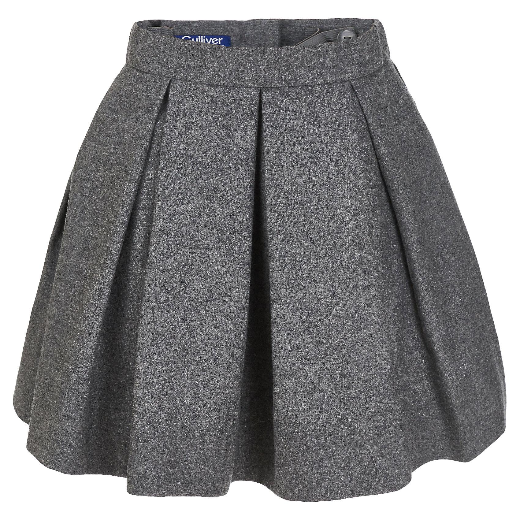Юбка Gulliver для девочкиЮбки<br>Юбка Gulliver для девочки<br>Купить детскую юбку просто, сложнее приобрести интересную модель, которая станет главным акцентом стильного детского гардероба. Красивая юбка с крупными бантовыми складками из благородного меланжевого текстиля - прекрасный вариант и на каждый день, и на выход! Она выглядит необычно, создавая выразительный девичий образ без приторности. Стильные детские юбки зимнего сезона - это простые, но элегантные дизайнерские решения. Они делают образ девочки привлекательным и ярким.<br>Состав:<br>верх:  50 % шерсть  15% вискоза  35% полиэстер; подкладка:  100% хлопок<br><br>Ширина мм: 207<br>Глубина мм: 10<br>Высота мм: 189<br>Вес г: 183<br>Цвет: серый<br>Возраст от месяцев: 60<br>Возраст до месяцев: 72<br>Пол: Женский<br>Возраст: Детский<br>Размер: 116,98,104,110<br>SKU: 7078533