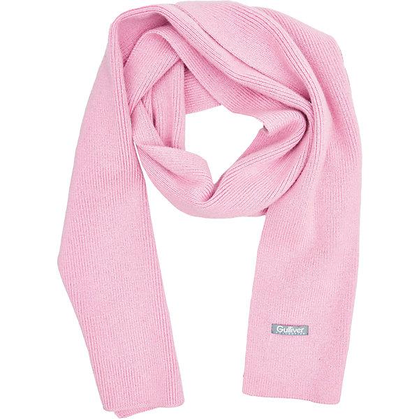 Шарф Gulliver для девочкиШарфы, платки<br>Характеристики товара:<br><br>• цвет: розовый;<br>• состав: 40% вискоза 20% шерсть 20% нейлон 20% ангора;<br>• сезон: демисезон, зима;<br>• температурный режим: от +10 до -20С;<br>• особенности: вязаный;<br>• коллекция: Филигрань;<br>• страна бренда: Россия;<br>• страна изготовитель: Китай.<br><br>Стильный вязаный шарф - важный элемент повседневного гардероба. Он защитит юную модницу от зимней стужи, а также придаст образу завершенность. Элегантный шарф с деликатным вывязанным узором - прекрасный выбор!<br><br>Шарф Gulliver (Гулливер) можно купить в нашем интернет-магазине.<br><br>Ширина мм: 88<br>Глубина мм: 155<br>Высота мм: 26<br>Вес г: 106<br>Цвет: розовый<br>Возраст от месяцев: 48<br>Возраст до месяцев: 108<br>Пол: Женский<br>Возраст: Детский<br>Размер: one size<br>SKU: 7078574