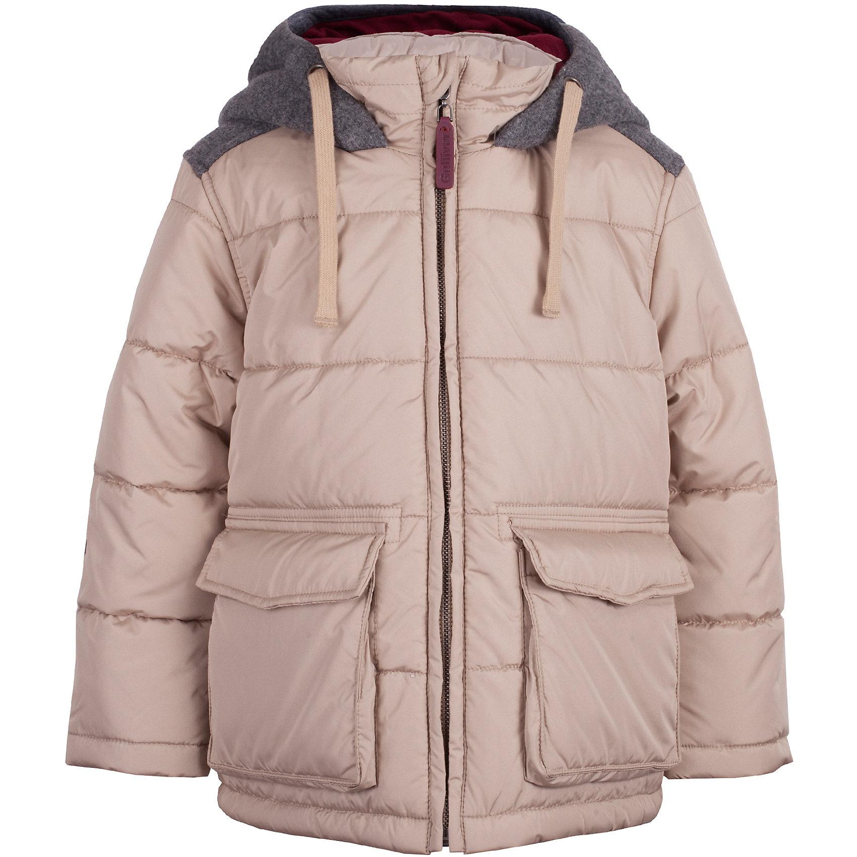 Куртка Gulliver для мальчикаВерхняя одежда<br>Куртка Gulliver для мальчика<br>Какими должны быть куртки для мальчиков? Модными или практичными, красивыми или функциональными? Отправляясь на осенний шопинг, мамы мальчиков должны ответить на эти непростые вопросы. Куртка из коллекции Воздушная регата упрощает задачу, потому что сочетает в себе все лучшие характеристики детских курток для мальчиков. Модная форма, комфортная длина, комбинация фактур, множество интересных функциональных и декоративных деталей делают куртку яркой и привлекательной. Эта куртка с контрастной отделкой подарит своему обладателю прекрасный внешний вид, удобство и индивидуальность. Если вы решили купить модную детскую куртку, эта модель - достойный выбор!<br>Состав:<br>верх:  100% полиэстер; подкладка: 100% полиэстер; утеплитель: 100% полиэстер<br><br>Ширина мм: 356<br>Глубина мм: 10<br>Высота мм: 245<br>Вес г: 519<br>Цвет: бежевый<br>Возраст от месяцев: 24<br>Возраст до месяцев: 36<br>Пол: Мужской<br>Возраст: Детский<br>Размер: 98,116,104,110<br>SKU: 7078613
