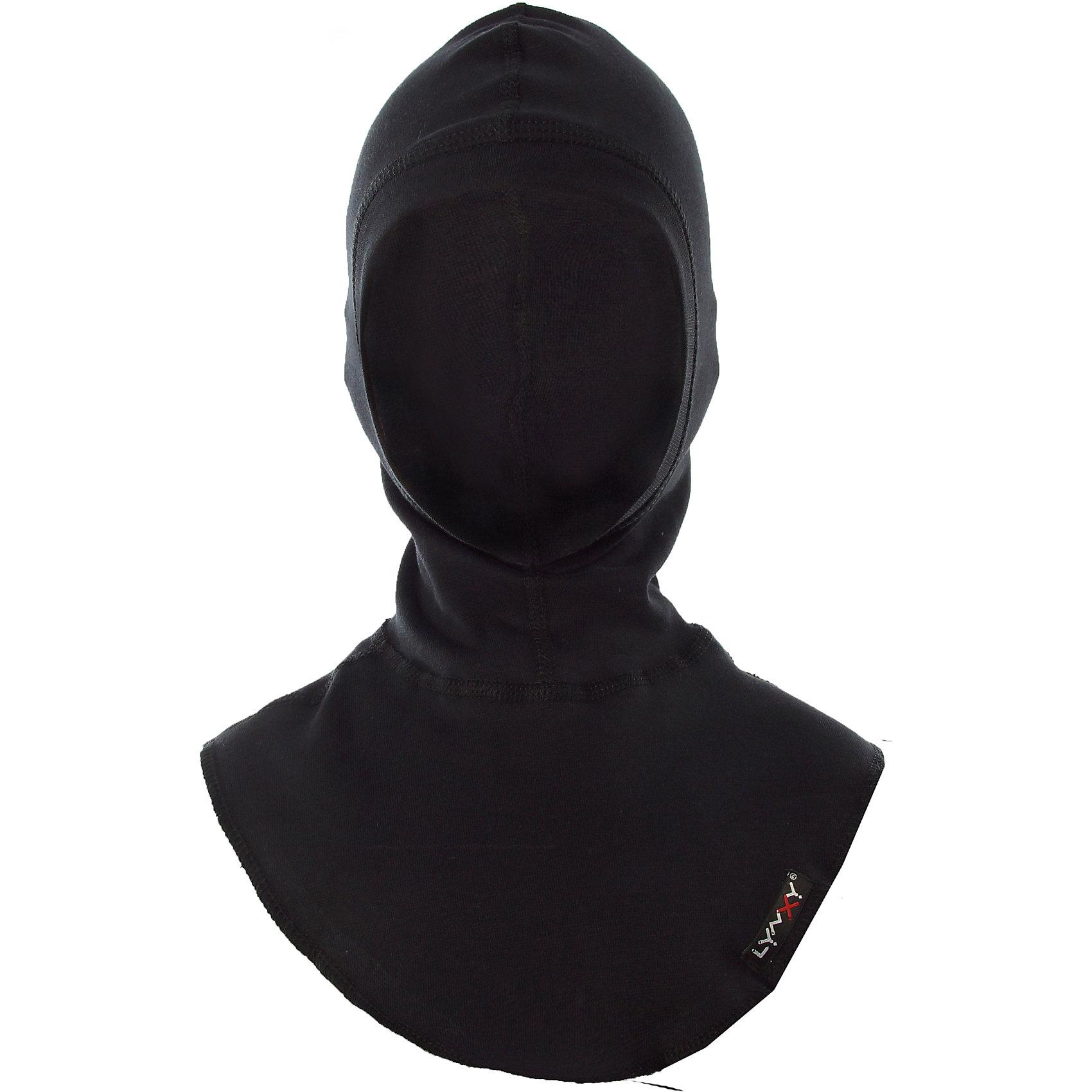 Шапка-шлем LynxyГоловные уборы<br>Характеристики товара:<br><br>• цвет: черный<br>• состав ткани: 95% полиэстер, 5% вискоза <br>• подкладка: нет<br>• сезон: зима<br>• температурный режим: от -30 до 0<br>• страна бренда: Россия<br>• страна изготовитель: Россия<br><br>Практичная черная шапка-шлем для детей - удобная деталь для создания ребенку комфортных условий. Эта шапка-шлем для ребенка сделана из инновационной ткани Trevira, мягкой и приятной на ощупь. Детская шапка-шлем стильно смотрится и удобно сидит. <br><br>Шапку-шлем Lynxy (Линкси) можно купить в нашем интернет-магазине.<br><br>Ширина мм: 89<br>Глубина мм: 117<br>Высота мм: 44<br>Вес г: 155<br>Цвет: черный<br>Возраст от месяцев: 96<br>Возраст до месяцев: 120<br>Пол: Унисекс<br>Возраст: Детский<br>Размер: 56,52,54<br>SKU: 7079786