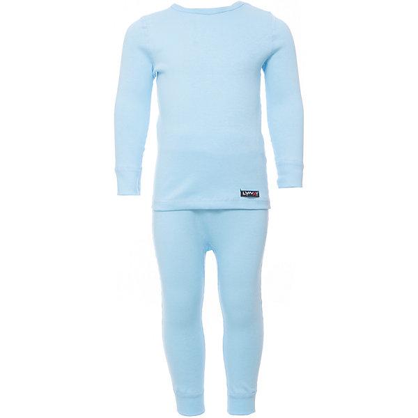 Комплект термобелья Lynxy для мальчикаФлис и термобелье<br>Характеристики товара:<br><br>• цвет: голубой<br>• комплектация: лонгслив и рейтузы<br>• состав ткани: 95% хлопок, 5% эластан<br>• подкладка: нет<br>• сезон: зима<br>• температурный режим: от -10 до +5<br>• пояс: резинка<br>• длинные рукава<br>• страна бренда: Россия<br>• страна изготовитель: Россия<br><br>Легкое термобелье можно надевать как нижний слой в морозы. Качественный материал комплекта термобелья для детей позволяет коже дышать и впитывает лишнюю влагу. Розовый детский комплект термобелья состоит из лонгслива и рейтуз. <br><br>Комплект термобелья Lynxy (Линкси) можно купить в нашем интернет-магазине.<br>Ширина мм: 219; Глубина мм: 11; Высота мм: 262; Вес г: 314; Цвет: голубой; Возраст от месяцев: 6; Возраст до месяцев: 9; Пол: Мужской; Возраст: Детский; Размер: 74,92,86,80; SKU: 7079999;