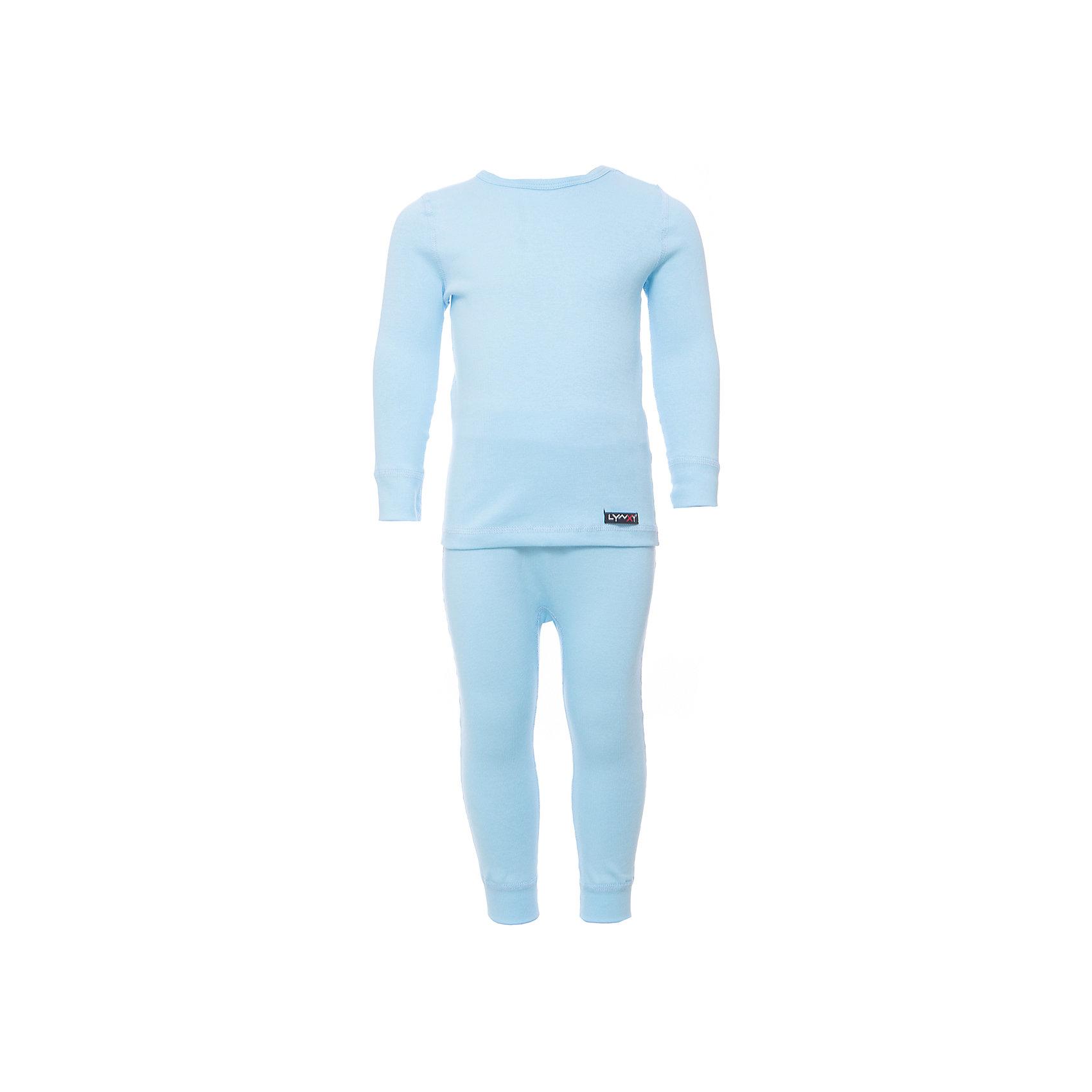 Комплект термобелья LynxyФлис и термобелье<br>Характеристики товара:<br><br>• цвет: голубой<br>• комплектация: лонгслив и рейтузы<br>• состав ткани: 95% полиэстер, 5% вискоза<br>• подкладка: нет<br>• сезон: зима<br>• температурный режим: от -10 до +5<br>• пояс: резинка<br>• длинные рукава<br>• страна бренда: Россия<br>• страна изготовитель: Россия<br><br>Легкое термобелье можно надевать как нижний слой в морозы. Качественный материал комплекта термобелья для детей позволяет коже дышать и впитывает лишнюю влагу. Розовый детский комплект термобелья состоит из лонгслива и рейтуз. <br><br>Комплект термобелья Lynxy (Линкси) можно купить в нашем интернет-магазине.<br><br>Ширина мм: 219<br>Глубина мм: 11<br>Высота мм: 262<br>Вес г: 314<br>Цвет: голубой<br>Возраст от месяцев: 18<br>Возраст до месяцев: 24<br>Пол: Унисекс<br>Возраст: Детский<br>Размер: 92,74,80,86<br>SKU: 7079999
