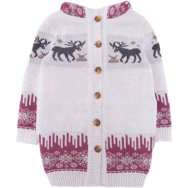 Кардиган Gakkard для девочкиТолстовки, свитера, кардиганы<br>Характеристики товара:<br><br>• цвет: белый<br>• состав: 50% натуральная шерсть мериноса, 30% натуральный лен, 20% ПАН<br>• сезон: зима<br>• застежка: пуговицы<br>• особенности модели: с капюшоном<br>• длинные рукава<br>• страна бренда: Россия<br>• страна производства: Россия<br><br>Этот детский кардиган сделан из мягкой пряжи с добавлением натуральной шерсти мериноса. Детский кардиган с длинным рукавом выглядит стильно благодаря вязаному рисунку в скандинавском стиле. Вязаный кардиган для ребенка дополнен удобным капюшоном. <br><br>Кардиган Gakkard (Жаккард) для девочки можно купить в нашем интернет-магазине.<br><br>Ширина мм: 190<br>Глубина мм: 74<br>Высота мм: 229<br>Вес г: 236<br>Цвет: бежевый<br>Возраст от месяцев: 6<br>Возраст до месяцев: 9<br>Пол: Женский<br>Возраст: Детский<br>Размер: 74,152,146,140,134,128,122,116,110,104,98,92,86,80<br>SKU: 7085491