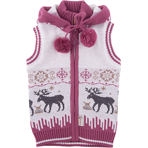 Жилет Gakkard для девочкиТолстовки, свитера, кардиганы<br>Характеристики товара:<br><br>• цвет: белый<br>• состав: 50% натуральная шерсть мериноса, 30% натуральный лен, 20% ПАН<br>• сезон: зима<br>• застежка: молния<br>• особенности модели: с капюшоном<br>• без рукавов<br>• страна бренда: Россия<br>• страна производства: Россия<br><br>Модный жилет для ребенка декорирован оригинальным вязаным рисунком. Обеспечить ребенку комфорт и тепло в прохладную погоду поможет этот детский жилет. Вязаный жилет сделан из материала с добавлением натуральной шерсти мериноса - он не садится, не колется и легко стирается. <br><br>Жилет Gakkard (Жаккард) для девочки можно купить в нашем интернет-магазине.<br><br>Ширина мм: 190<br>Глубина мм: 74<br>Высота мм: 229<br>Вес г: 236<br>Цвет: бежевый<br>Возраст от месяцев: 60<br>Возраст до месяцев: 72<br>Пол: Женский<br>Возраст: Детский<br>Размер: 116,128,122,110,104,98,92<br>SKU: 7085526