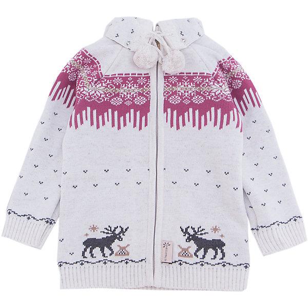 Жакет Gakkard для девочкиТолстовки, свитера, кардиганы<br>Характеристики товара:<br><br>• цвет: белый<br>• состав: 50% натуральная шерсть мериноса, 30% натуральный лен, 20% ПАН<br>• сезон: зима<br>• застежка: молния<br>• особенности модели: с капюшоном<br>• длинные рукава<br>• страна бренда: Россия<br>• страна производства: Россия<br><br>Теплый жакет сделан из мягкой пряжи с добавлением натуральной шерсти мериноса. Детский жакет с длинным рукавом выглядит стильно благодаря вязаному рисунку в скандинавском стиле. Такой вязаный жакет для ребенка дополнен симпатичным капюшоном. <br><br>Жакет Gakkard (Жаккард) для девочки можно купить в нашем интернет-магазине.<br><br>Ширина мм: 190<br>Глубина мм: 74<br>Высота мм: 229<br>Вес г: 236<br>Цвет: бежевый<br>Возраст от месяцев: 6<br>Возраст до месяцев: 9<br>Пол: Женский<br>Возраст: Детский<br>Размер: 74,104,98,92,86,80<br>SKU: 7085571