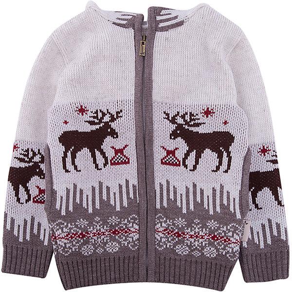 Жакет GakkardТолстовки, свитера, кардиганы<br>Характеристики товара:<br><br>• цвет: белый<br>• состав: 50% натуральная шерсть мериноса, 30% натуральный лен, 20% ПАН<br>• сезон: зима<br>• застежка: молния<br>• особенности модели: с капюшоном<br>• длинные рукава<br>• страна бренда: Россия<br>• страна производства: Россия<br><br>Вязаный жакет для ребенка дополнен капюшоном и карманами. Теплый жакет сделан из мягкой пряжи с добавлением натуральной шерсти мериноса. Детский жакет с длинным рукавом выглядит стильно благодаря вязаному рисунку в скандинавском стиле. <br><br>Жакет Gakkard (Жаккард) можно купить в нашем интернет-магазине.<br>Ширина мм: 190; Глубина мм: 74; Высота мм: 229; Вес г: 236; Цвет: бежевый; Возраст от месяцев: 6; Возраст до месяцев: 9; Пол: Унисекс; Возраст: Детский; Размер: 74,152,146,140,134,128,122,116,110,104,98,92,86,80; SKU: 7085875;