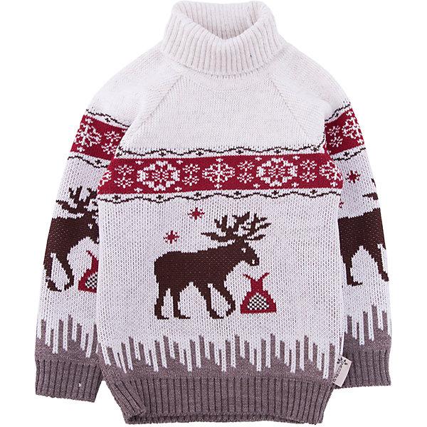Свитер GakkardТолстовки, свитера, кардиганы<br>Характеристики товара:<br><br>• цвет: белый<br>• состав: 50% натуральная шерсть мериноса, 30% натуральный лен, 20% ПАН<br>• сезон: зима<br>• застежка: нет<br>• особенности модели: высокий ворот<br>• длинные рукава<br>• страна бренда: Россия<br>• страна производства: Россия<br><br>Вязаный свитер для ребенка отличается удобными карманами. Теплый свитер сделан из мягкой пряжи с добавлением натуральной шерсти мериноса. Детский свитер с длинным рукавом выглядит стильно благодаря вязаному рисунку в скандинавском стиле. <br><br>Свитер Gakkard (Жаккард) можно купить в нашем интернет-магазине.<br><br>Ширина мм: 190<br>Глубина мм: 74<br>Высота мм: 229<br>Вес г: 236<br>Цвет: бежевый<br>Возраст от месяцев: 12<br>Возраст до месяцев: 18<br>Пол: Унисекс<br>Возраст: Детский<br>Размер: 86,152,146,140,134,128,122,116,110,104,98,92<br>SKU: 7085905