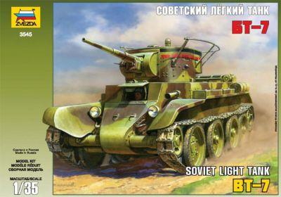Сборная модель Звезда Советский легкий танк БТ-7 , 1:35