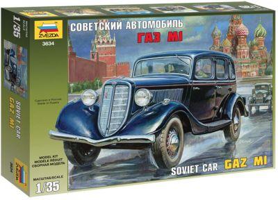 Сборная модель Звезда Советский автомобиль ГАЗ М1 , 1:35