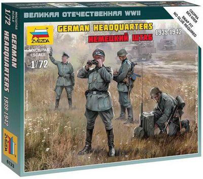 Сборная модель Звезда Немецкий штаб 1939-1942 , 1:72 (сборка без клея)