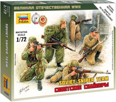 Сборная модель Звезда Советские снайперы , 1: 72 (сборка без клея)