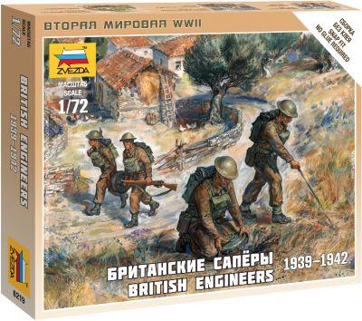 Сборная Модель Звезда Британские Саперы 1939-1942 , 1:72 (Сборка Без Клея)