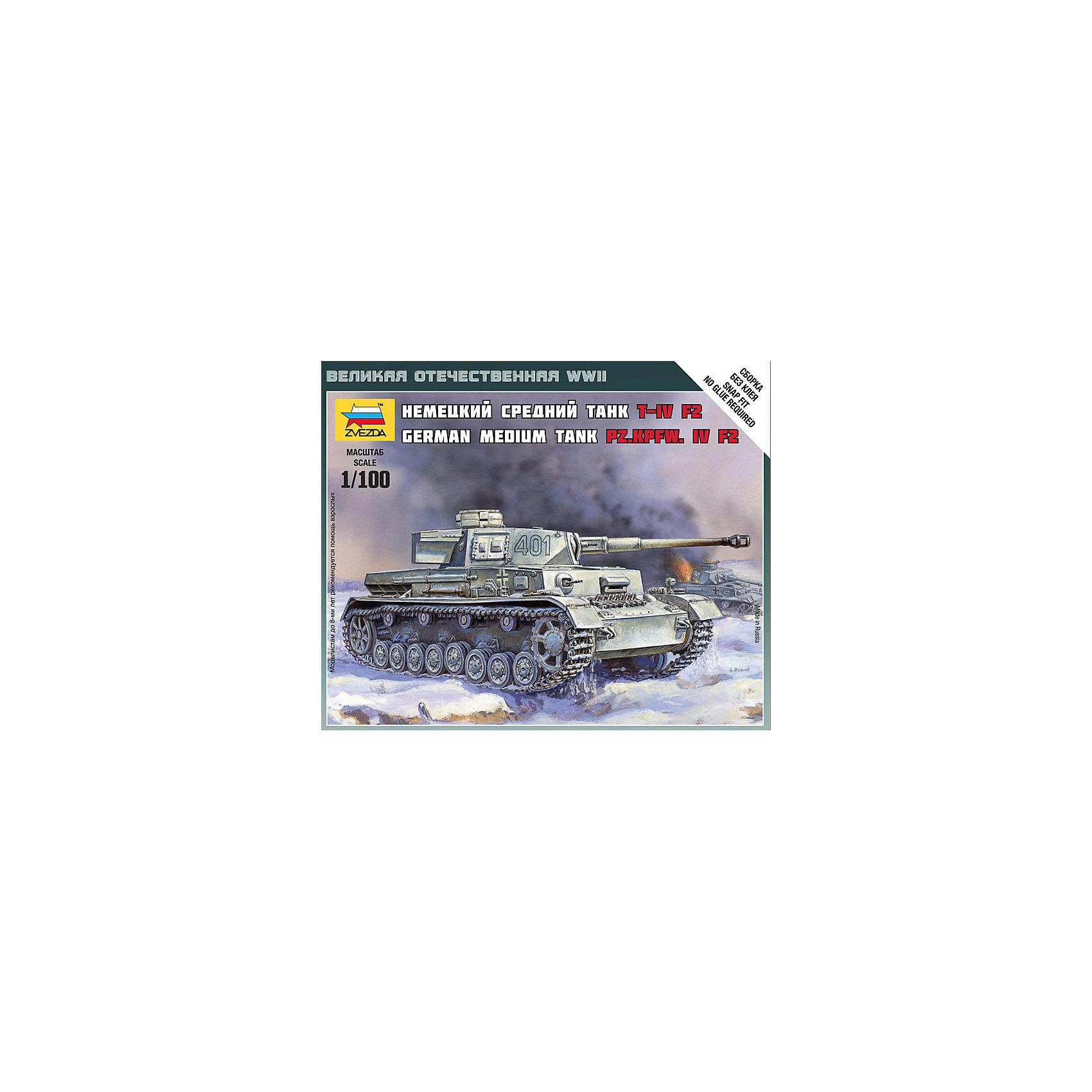 Сборная модель Звезда Немецкий средний танк Т-4 F2, 1:100 (сборка без клея)Модели для склеивания<br>Модель сборная. Немецкий танк Т-4 F2<br><br>Ширина мм: 120<br>Глубина мм: 145<br>Высота мм: 200<br>Вес г: 40<br>Возраст от месяцев: 36<br>Возраст до месяцев: 180<br>Пол: Мужской<br>Возраст: Детский<br>SKU: 7086500