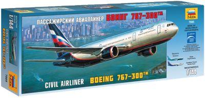 Сборная модель Звезда Пассажирский самолет Боинг 767-300 , 1:144