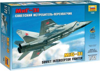 Сборная модель Звезда Самолет МИГ-31 , 1:72