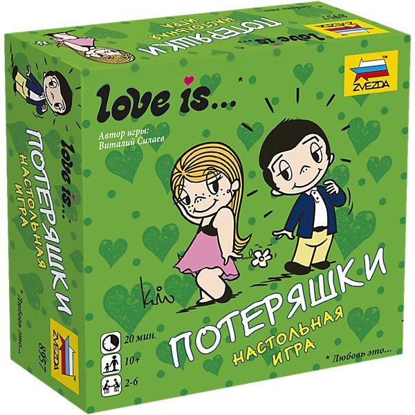 Настольная игра Звезда Love is… ПотеряшкиНастольные игры для всей семьи<br>Характеристики товара: <br><br>• возраст: от 10 лет;<br>• материал: картон;<br>• в комплекте: 60 карточек заданий, правила игры;<br>• количество игроков: 2-6 человек;<br>• время игры: 20 минут;<br>• размер упаковки: 11,3х11,3х4,3 см;<br>• вес упаковки: 200 гр.;<br>• страна производитель: Россия.<br><br>Настольная игра Звезда «Love is… Потеряшки» - увлекательная игра для компании друзей. В игре все истории перепутались, а игрокам предстоит распутать их по ходу игры.<br><br>Настольную игру Звезда «Love is… Потеряшки» можно приобрести в нашем интернет-магазине.<br><br>Ширина мм: 110<br>Глубина мм: 110<br>Высота мм: 40<br>Вес г: 250<br>Возраст от месяцев: 120<br>Возраст до месяцев: 180<br>Пол: Унисекс<br>Возраст: Детский<br>SKU: 7086581