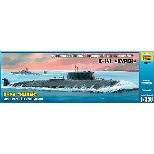 Сборная модель Звезда Российская АПЛ Курск, 1:350Корабли и подводные лодки<br>Характеристики:<br><br>• возраст: от 10 лет;<br>• тип игрушки: сборная модель;<br>• масштаб: 1:350;<br>• количество деталей: 262;<br>• размер: 46х6,5х16 см; <br>• комплект: детали, инструкция по сборке;<br>• материал: пластик;<br>• высота: 44 см;<br>• бренд: Звезда;<br>• упаковка: картонная коробка;<br>• страна производитель: Россия.<br><br>Сборная модель от бренда Звезда «Российская АПЛ Курск» окажется увлекательной и познавательной игрой для ребенка старше 10 лет. Сборка заставляет сосредоточиться и проявить усидчивость. Набор станет отличным подарком для любого коллекционера моделей военной техники.<br><br>В данном наборе есть все необходимые элементы для сборки уменьшенной копии подводной лодки «Курск». Она предназначалась для уничтожения авианосных и ракетных группировок вероятного противника. <br><br>Подробная инструкция поможет в процессе сборки. Все детали изготовлены из высококачественного пластика безопасного для ребенка. Для прочности конструкции, собирая модель, детали нужно склеивать между собой (клей не входит в набор).<br>После того, как подводная лодка будет собрана, её можно раскрасить. Краски и кисточки не входят в комплект. <br><br> Сборную модель от бренда Звезда «Российская АПЛ Курск» можно купить в нашем интернет-магазине.<br><br>Ширина мм: 160<br>Глубина мм: 475<br>Высота мм: 65<br>Вес г: 285<br>Возраст от месяцев: 36<br>Возраст до месяцев: 180<br>Пол: Мужской<br>Возраст: Детский<br>SKU: 7086587