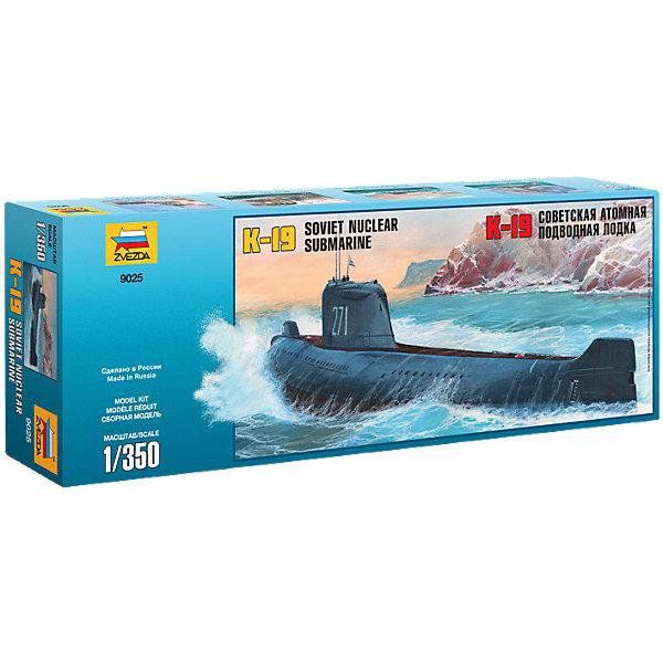 Сборная модель Звезда Подводная лодка К-19, 1:350Корабли и подводные лодки<br>Характеристики:<br><br>• возраст: от 10 лет;<br>• тип игрушки: сборная модель;<br>• масштаб: 1:350;<br>• детали: 44;<br>• размер упаковки: 48х16х7 см;<br>• материал: пластик;<br>• бренд: Звезда;<br>• длинна: 33 см;<br>• упаковка: картонная коробка;<br>• страна производитель: Россия.<br><br>Сборная модель от бренда Звезда «Подводная лодка К-19» окажется увлекательной и познавательной игрой для ребенка старше 10 лет. Сборка заставляет сосредоточиться и проявить усидчивость. Набор станет отличным подарком для любого коллекционера моделей военной техники.<br><br>Расширять кругозор ребенка можно различными интересными способами. Например, сборка реалистичных копий военной техники поможет не только развить мелкую моторику рук ребенка и координацию движений, а также познакомит его с легендарными моделями и их уникальной историей.<br><br>С этим набором ребенок сможет воссоздать копию легендарной российской подводной лодки. Для этого необходимо будет соединить все детали комплекта по инструкции. Готовая подлодка будет полностью повторять свой известный прототип. А чтобы модель еще больше напоминала оригинал, е можно будет раскрасить (краски в комплект не входят).<br><br>Дальше ребенок сможет использовать уже готовую игрушку в своих играх и воссоздавать с ее помощью знаменитые битвы, тем самым развивая фантазию и образное мышление. Сборка высокодетализированных моделей станет новым познавательным увлечением ребёнка, и он создаст коллекцию таких точных копий транспорта разных эпох.<br><br>Сборную модель от бренда Звезда «Подводная лодка К-19» можно купить в нашем интернет-магазине.<br>Ширина мм: 160; Глубина мм: 475; Высота мм: 65; Вес г: 215; Возраст от месяцев: 36; Возраст до месяцев: 180; Пол: Мужской; Возраст: Детский; SKU: 7086591;