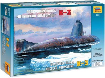 Сборная Модель Звезда Подводная Лодка Ленинский Комсомол К-3 , 1:350