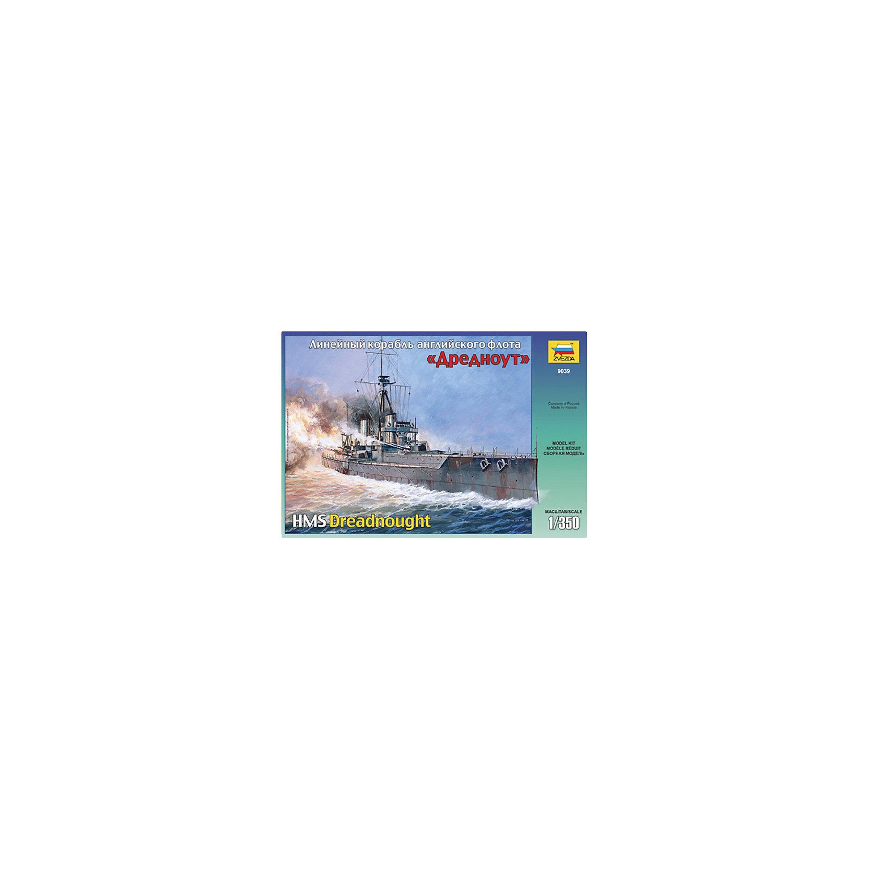 Сборная модель Звезда Линейный корабль Дредноут, 1:350Модели для склеивания<br>Модель сборная Линейный корабль Дредноут (Россия)<br><br>Ширина мм: 487<br>Глубина мм: 85<br>Высота мм: 307<br>Вес г: 700<br>Возраст от месяцев: 36<br>Возраст до месяцев: 180<br>Пол: Мужской<br>Возраст: Детский<br>SKU: 7086595