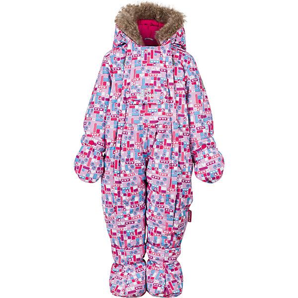 Комбинезон Premont для девочкиВерхняя одежда<br>Характеристики товара:<br><br>• цвет: сиреневый<br>• состав ткани: Taslan<br>• подкладка: Polar fleece, Taffeta<br>• утеплитель: Tech-polyfill<br>• сезон: зима<br>• мембранное покрытие<br>• температурный режим: от -30 до +5<br>• водонепроницаемость: 5000 мм <br>• паропроницаемость: 5000 г/м2<br>• плотность утеплителя: 280 г/м2<br>• капюшон: несъемный<br>• искусственный мех на капюшоне отстегивается<br>• застежка: молния<br>• страна бренда: Канада<br>• страна изготовитель: Китай<br><br>Зимний комбинезон для ребенка отличается удобным капюшоном с отстегивающимся мехом и регулировкой. Детский теплый комбинезон дополнен удобными карманами на липучках. Мембранный детский комбинезон легко надевается и снимается благодаря удлиненной молнии. Мягкая и теплая подкладка комбинезона для детей делает его очень комфортным.  <br><br>Комбинезон для девочки Premont (Премонт) можно купить в нашем интернет-магазине.<br>Ширина мм: 356; Глубина мм: 10; Высота мм: 245; Вес г: 519; Цвет: розовый; Возраст от месяцев: 18; Возраст до месяцев: 24; Пол: Женский; Возраст: Детский; Размер: 92,86,80,74,68,98; SKU: 7088082;
