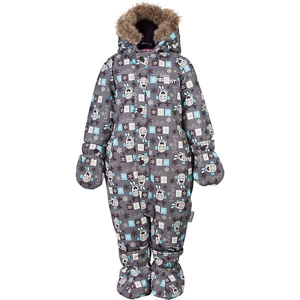 Комбинезон Premont для девочкиВерхняя одежда<br>Характеристики товара:<br><br>• цвет: серый<br>• состав ткани: Taslan<br>• подкладка: Polar fleece, Taffeta<br>• утеплитель: Tech-polyfill<br>• сезон: зима<br>• мембранное покрытие<br>• температурный режим: от -30 до +5<br>• водонепроницаемость: 5000 мм <br>• паропроницаемость: 5000 г/м2<br>• плотность утеплителя: 280 г/м2<br>• капюшон: несъемный<br>• искусственный мех на капюшоне отстегивается<br>• застежка: молния<br>• страна бренда: Канада<br>• страна изготовитель: Китай<br><br>Модный и практичный зимний детский комбинезон сделан с применением мембранной технологии. Мягкая подкладка комбинезона для детей делает его очень комфортным. Зимний комбинезон для ребенка снабжен мягкими манжетами. Детский теплый комбинезон дополнен удобным капюшоном, планкой от ветра и карманами на липучках. <br><br>Комбинезон для девочки Premont (Премонт) можно купить в нашем интернет-магазине.<br>Ширина мм: 356; Глубина мм: 10; Высота мм: 245; Вес г: 519; Цвет: серый; Возраст от месяцев: 12; Возраст до месяцев: 15; Пол: Женский; Возраст: Детский; Размер: 80,98,92,86,74,68; SKU: 7088089;