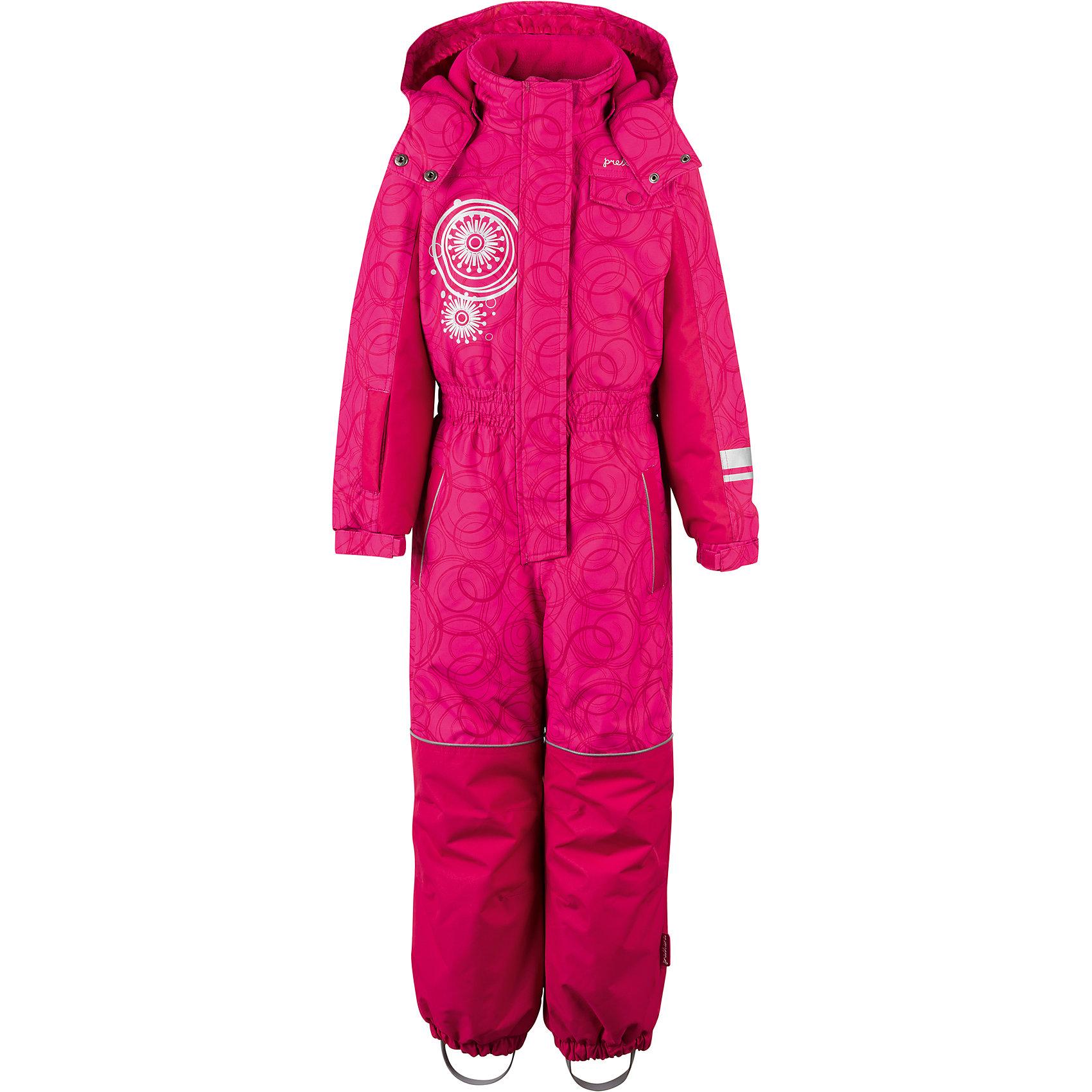 Комбинезон Premont для девочкиВерхняя одежда<br>Характеристики товара:<br><br>• цвет: фуксия<br>• состав ткани: Taslan<br>• подкладка: Polar fleece, Taffeta<br>• утеплитель: Tech-polyfill<br>• сезон: зима<br>• мембранное покрытие<br>• температурный режим: от -20 до +5<br>• водонепроницаемость: 5000 мм <br>• паропроницаемость: 5000 г/м2<br>• плотность утеплителя: 220 г/м2<br>• капюшон: съемный,  без меха<br>• застежка: молния<br>• страна бренда: Канада<br>• страна изготовитель: Китай<br><br>Зимний комбинезон для ребенка снабжен штрипками, внутренними эластичными лямками и светоотражающими элементами. Детский теплый комбинезон дополнен усилен на брючинах износостойкой тканью. Мембранный детский комбинезон легко надевается благодаря удлиненной молнии. <br><br>Комбинезон для девочки Premont (Премонт) можно купить в нашем интернет-магазине.<br><br>Ширина мм: 356<br>Глубина мм: 10<br>Высота мм: 245<br>Вес г: 519<br>Цвет: розовый<br>Возраст от месяцев: 84<br>Возраст до месяцев: 96<br>Пол: Женский<br>Возраст: Детский<br>Размер: 128,92,98,104,110,116,122<br>SKU: 7088096