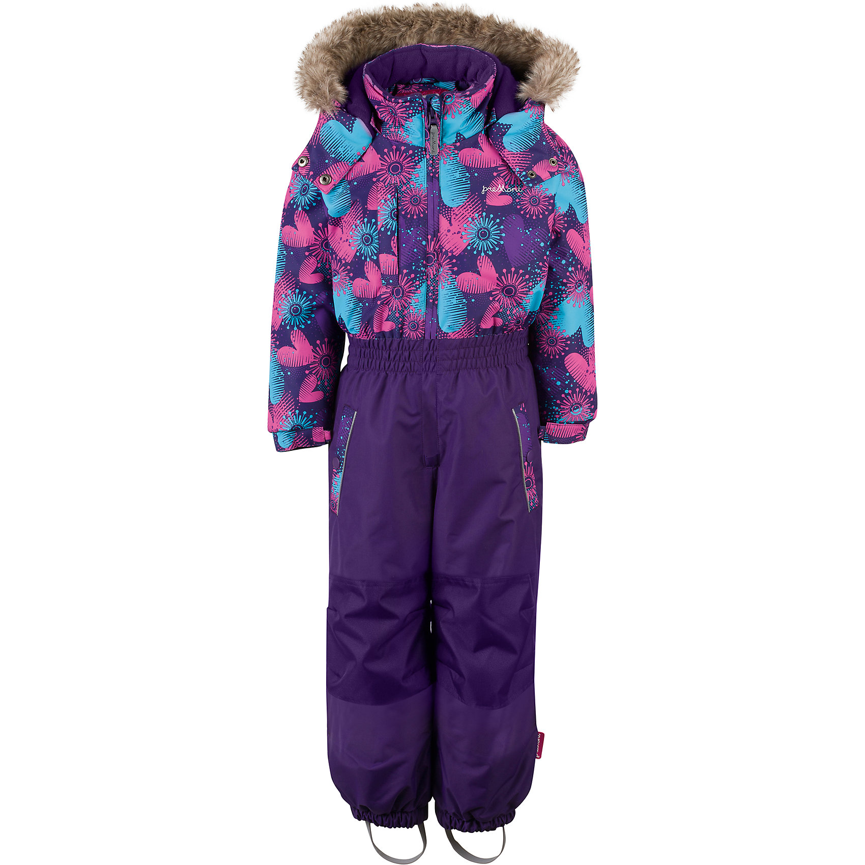 Комбинезон Premont для девочкиВерхняя одежда<br>Характеристики товара:<br><br>• цвет: сиреневый<br>• состав ткани: Taslan<br>• подкладка: Polar fleece, Taffeta<br>• утеплитель: Tech-polyfill<br>• сезон: зима<br>• мембранное покрытие<br>• температурный режим: от -20 до +5<br>• водонепроницаемость: 5000 мм <br>• паропроницаемость: 5000 г/м2<br>• плотность утеплителя: 20 г/м2<br>• капюшон: съемный<br>• искусственный мех на капюшоне отстегивается<br>• застежка: молния<br>• страна бренда: Канада<br>• страна изготовитель: Китай<br><br>Мягкая и теплая подкладка комбинезона для детей делает его очень комфортным.  Мембранный комбинезон для ребенка отличается удобным капюшоном с отстегивающимся мехом и регулировкой. Детский теплый комбинезон дополнен удобными карманами на липучках. Мембранный детский комбинезон легко надевается и снимается благодаря удлиненной молнии. <br><br>Комбинезон для девочки Premont (Премонт) можно купить в нашем интернет-магазине.<br><br>Ширина мм: 356<br>Глубина мм: 10<br>Высота мм: 245<br>Вес г: 519<br>Цвет: фиолетовый<br>Возраст от месяцев: 18<br>Возраст до месяцев: 24<br>Пол: Женский<br>Возраст: Детский<br>Размер: 92,128,122,116,110,104,98<br>SKU: 7088104